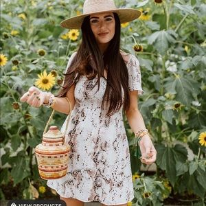 Mumu snake print babydoll dress